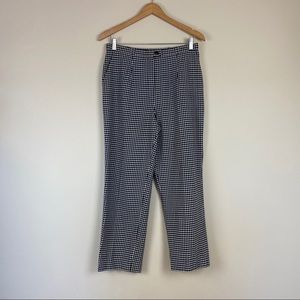 Vintage Cropped Length Checked Trousers
